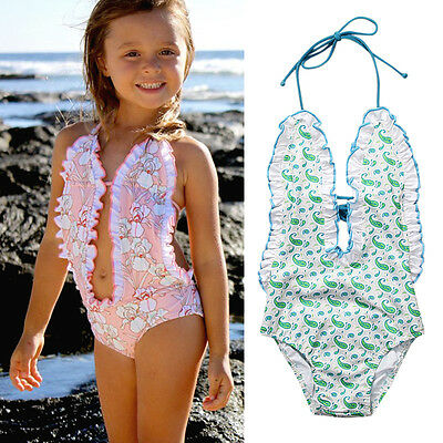 AU STock Kid Baby Girls Toddler Swimsuit Bathing Suit Swimwear Beachwear Bikini