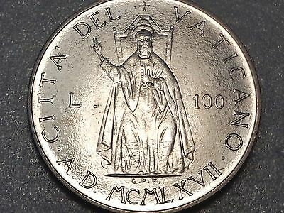 Vatican 1967 100 Lire Saint Peter on Pontific Throne Paul VI Gem UNC of Mint Set