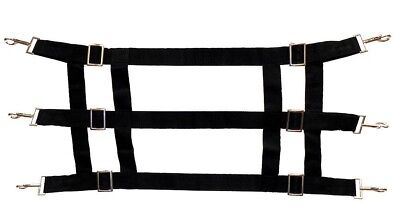 (Black) - Nylon Stall Guard for Horse Stalls. 2X Cowboy Supplies