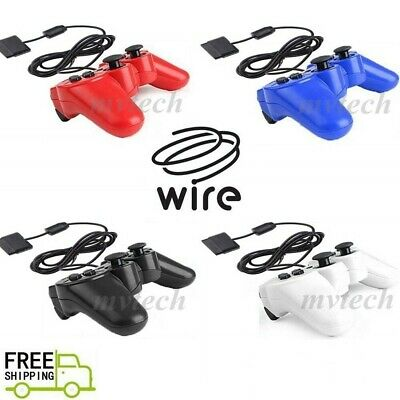 NEW Wired Game Controller For PS2 Twin Shock Gamepad Joypad Free Shipping
