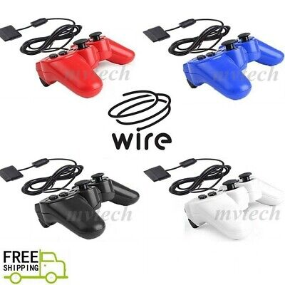 NEW Wired Game Controller For Sony PS2 Twin Shock Gamepad Joypad