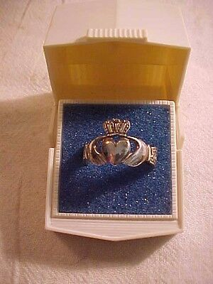 CELTIC irish crown ring Size 9-9 1/2 Infinity Celtic Claddagh ring