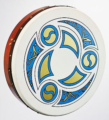 """Bodhran 12"""" Waltons With """"Trinity"""" Logo. Bag & Beater Included - New"""
