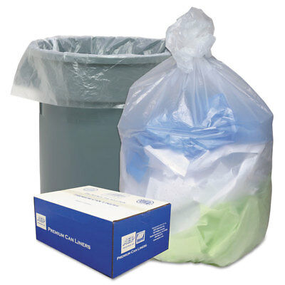 Ultra Plus High Density Can Liners 56gal 16 Microns 43 x 48 Natural 200/Carton