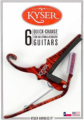 Kyser Quick Change Rosewood Capo For Acoustic Guitars - Made In Usa
