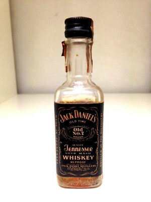 Jack Daniels Old No.7 Tennessee Sour Mash Rare Lem Motlow Tax Seal Miniature