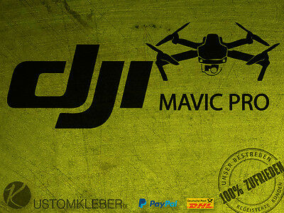 (No.3) DJI MAVIC PRO Sticker Aufkleber Decal Phantom INSPIRE