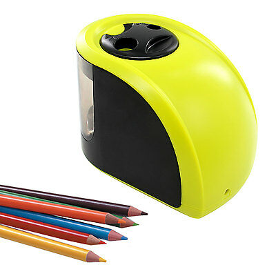 Double Hole Electric Pencil Sharpener for Art School Office Battery/Adapter