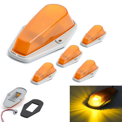5*Roof Cab Marker Lights for Ford F-150 F-250 F-350 F Super Duty Before 1997