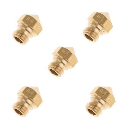 5x Extruder Brass Nozzle Printhead for 3D Printer MK10 1.75mm 0.4mm