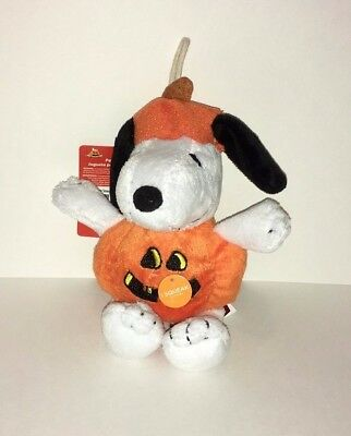 Halloween Peanuts Snoopy The Great Pumpkin Squeaky Dog Toy Plush Figure