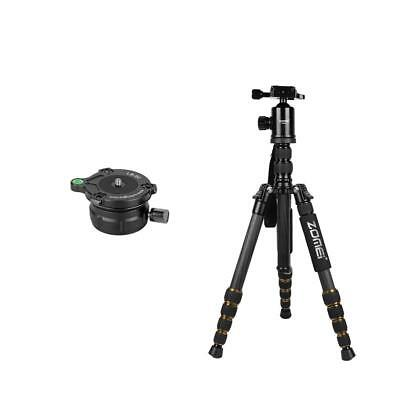 Carbon Fiber Tripod Monopod w/ Ball Head + Leveling Ball Head Base for Nikon