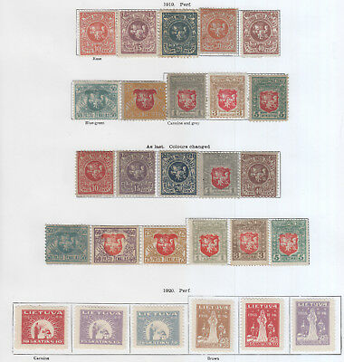 Lithuania, From 1919 Excellent Clean Lot On 6 Pages Mh