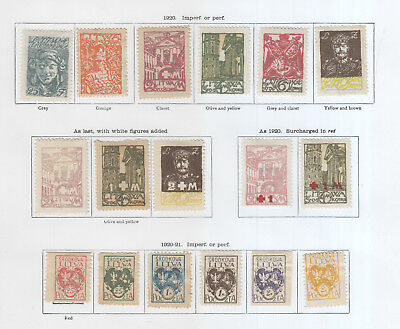 Central Lithuania, From 1920 Excellent Clean Lot On 2 Pages Mh