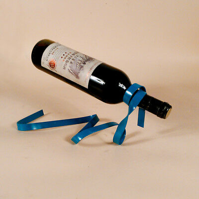 1Pc Suspended Ribbon Wine Rack Suspension Stand Novelty Iron Bottle Holder New