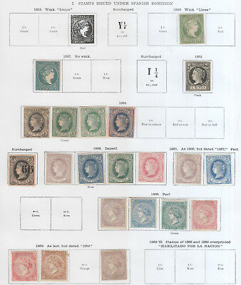 Spanish West Indies, Superb Lot From 1856 On  5 Pages Mh