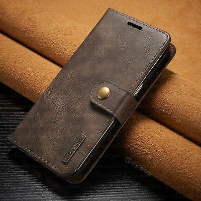 Removable Wallet Leather Magnetic Flip Case Cover Samsung Galaxy Note 8 9 S8 S9