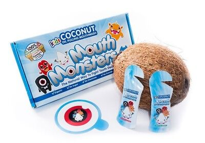 MouthMonsters Detoxifying Ayurvedic Coconut Oil Pulling Mouthwash For Kids Of