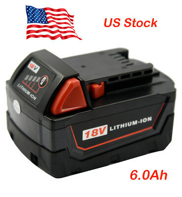 Milwaukee M18 18V 6.0Ah XC RED Li-ion Cordless Drill 18Volt Replacement Battery