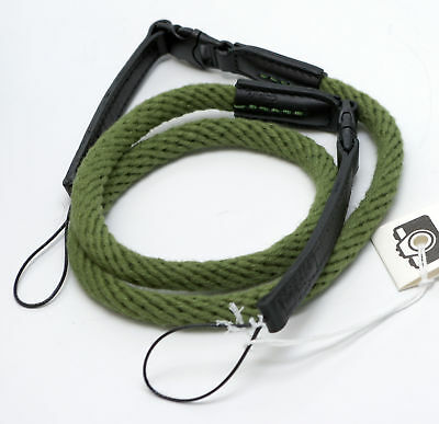 Dark Green Woven Cotton Rope Camera Strap with loop connection by Cam-in - 95cm