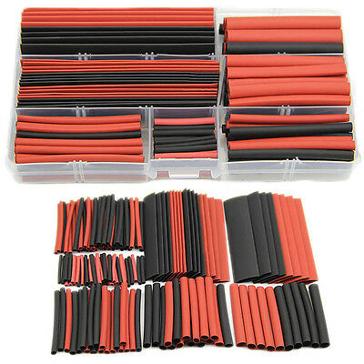 150pcs 2:1 Polyolefin Heat Shrink Tubing Tube Sleeving Wrap Wire Kit Cable New