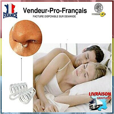 2 X Cone Anti Ronflement Bouchon Pince Doux  Sommeil Dispositif Silicone