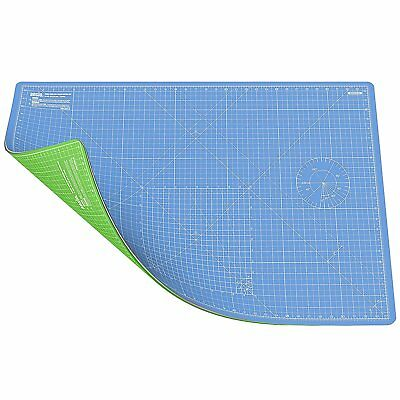 ANSIO A1 Double Sided Self Healing 5 Layers Cutting Mat Imperial/Metric Sky Blue