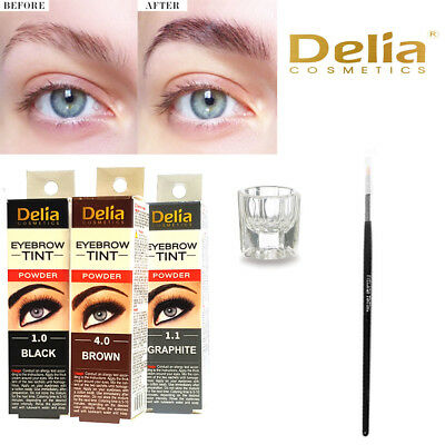 New Delia Cosmetics Traditional Eyelash Dye, Eyebrow Dye Tint Lash Kit Tinting