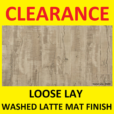 CLEARANCE - LOOSE WASHED LATTE MAT FINISH - Vinyl Flooring planks floor, click