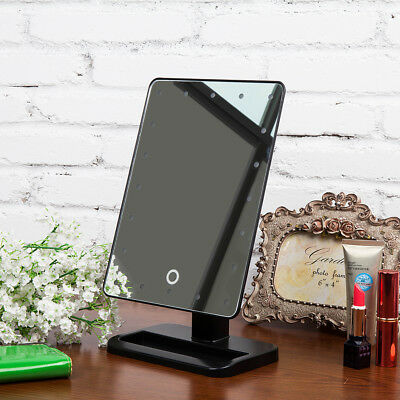 Make Up LED Cosmetic Mirror Illuminated Beauty Touch Screen Desk Top with Stand