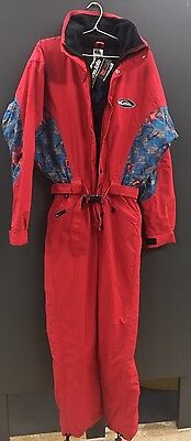 Quiksilver Vintage One Piece Snow Ski Suit XS Retro