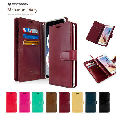 Samsung Note 8 Mercury Goospery PU Leather Card Luxury Wallet Rubber Case Cover