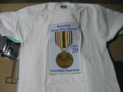 """T-shirt with """"Honoring those who Served"""" on the front-Mint condition"""