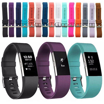 Trendy Silicone Rubber Replacement Strap Wrist Wristband Band for FitBit Charge2