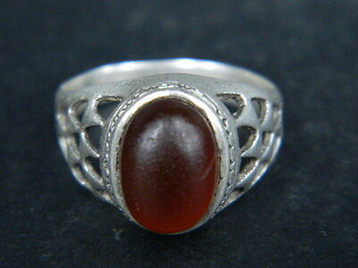 Antique Silver Ring With Stone C.1900 AD  ###R639###