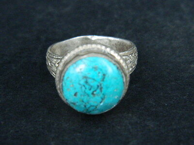 Antique Silver Ring With Stone C.1900 AD  ###R591###