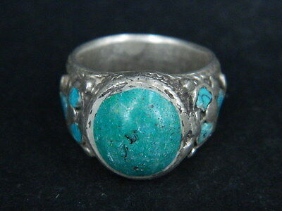 Antique Silver Ring With Stones C.1900 AD  ###R627###