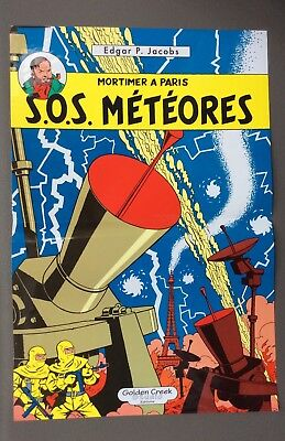 JACOBS. Poster Mortimer à Paris S.O.S Météores. Golden creek studio éditions