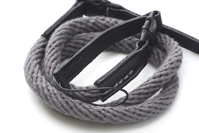 Grey Woven Cotton Rope Camera Strap with loop connection by Cam-in - 95cm
