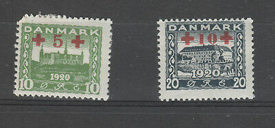 Denmark, 1921 Red Cross Set Mh