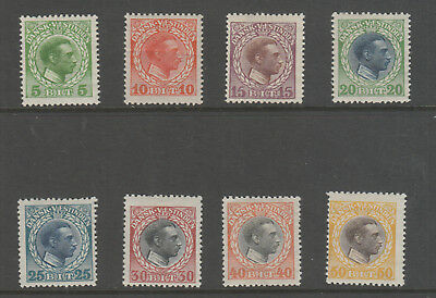Danish West Indies 1915 Set Of 8 Mh