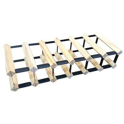 12 Bottle Timber Wine Rack - Slim Edition - Wine Stash + Free Assembly & Postage