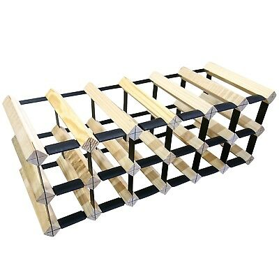 18 Bottle Timber Wine Rack - Slim Edition - Wine Stash - Delivered ASSEMBLED