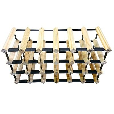 24 Bottle Timber Wine Rack - Slim Edition - Wine Stash + Free Assembly & Postage