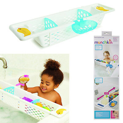 Munchkin Quack Bath Caddy Bathroom Toys Organizer Storage Baby Tub Secure Grip