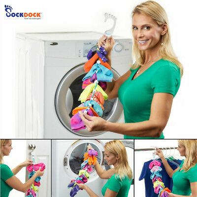 NEW SockDock 2-In-1 Sock Savers From Washer Dryer To Organized Hanging Storage