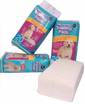 New 60 Puppy Training Pads 60 X 45cm House Large Wee Dog Toilet Train Absorbent
