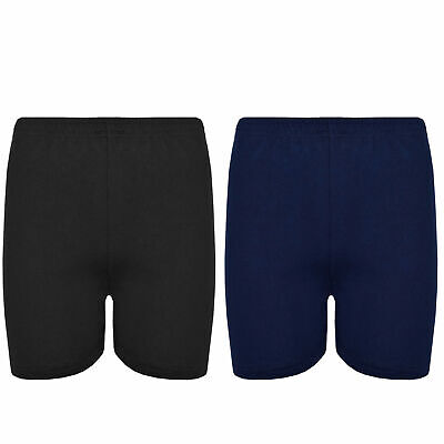 Girls/Boys Cotton Lycra Cycling Shorts Kids Childrens School Gym Dance Shorts