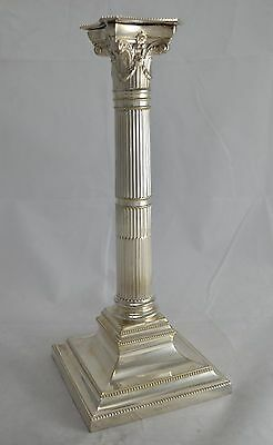 N6565 Favoloso Candelabro Impero 1 Fiamma In Silver Plated Hawksworth Eyre