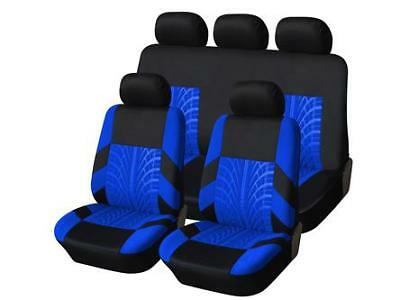 CITROEN C3 PICASSO 09-ON Heavy Duty Black & Blue Trax Seat Cover Set